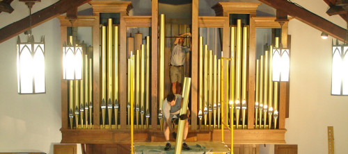 Assembling the Pipe Organ